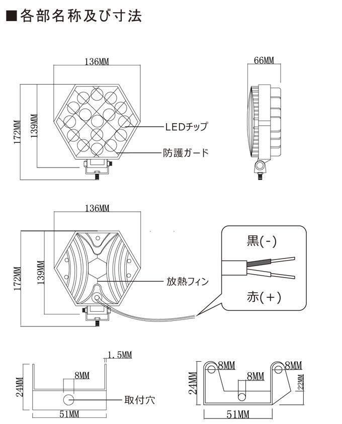 優れた放熱性 IP67防水防塵 鏡面はPMMAアクリル樹脂を採用し、抜群の透明性